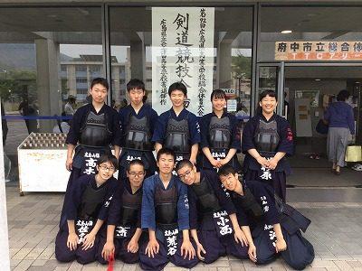 剣道部 3年生公式戦終了